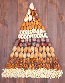 Nuts pyramid — Stock Photo