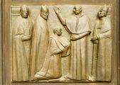 The collegiate church, dedicated to the Saints Gervasio and Protasio in Domodossola, Italy — Stock Photo