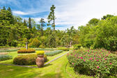 Public garden of Villa Taranto in Italy — Stock Photo