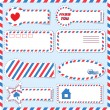 Постер, плакат: Postal stickers vector