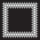Christmas lace border — Stock Vector