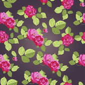 Rose seamless pattern, vector — Vettoriale Stock