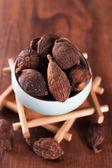 Chinese black cardamom — Stock Photo