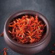 Stock Photo: Safflower or thistle dye