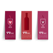 Banners set on wines vector — Stock Vector