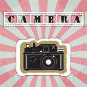 Retro camera in a scrapbook style vector — Stock Vector