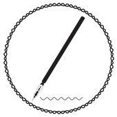 Silhouette calligraphic pen vector — Stock Vector