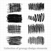 Collections of grunge design elements — Stockvector