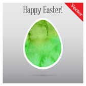 Easter eggs painted in watercolor vector — Stok Vektör