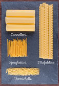 Set of traditional Italian pasta — Foto de Stock