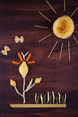 Landscape pasta — Stock Photo
