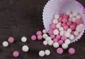 Sugar balls for decorating pastries — Stock Photo