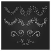 Hand Drawn Laurels, wreath and design elements — Stock Vector