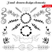 Hand Drawn design elements — Stock Vector