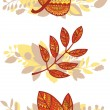 Vector set of decorative autumn leaves compositions — Stock Vector