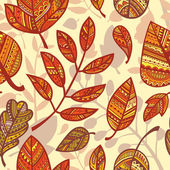 Pattern of decorative leaves — Stock Vector
