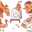 Royalty-Free Stock  : Fairy-tale birds set