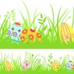 fond de Pâques sans couture horizontale — Vecteur