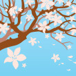 Stock Vector: Blooming tree