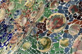 Mosaics decoration of Casa Batllo — Stock Photo