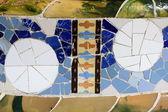 Mosaik dekoration på park guell — Stockfoto