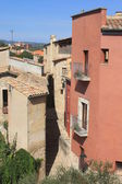 Narrow street in Girona — Stock Photo