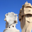 Chimneys at Casa Mila — Foto de Stock