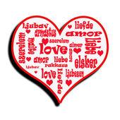 """Abbildung von """"love"""" — Stockfoto"""