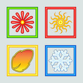 Illustration of Four Seasons — Stock Photo