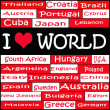 Illustration of I LOVE WORLD — Stock Photo