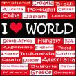 Illustration of I LOVE WORLD — Stock Photo