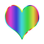 Illustration of Rainbow heart — Stock Photo