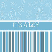 It s a boy card — Stock Photo