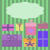 Colorful gift boxes — Stockfoto