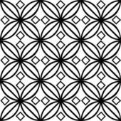 Black and white tile illustration — Foto Stock