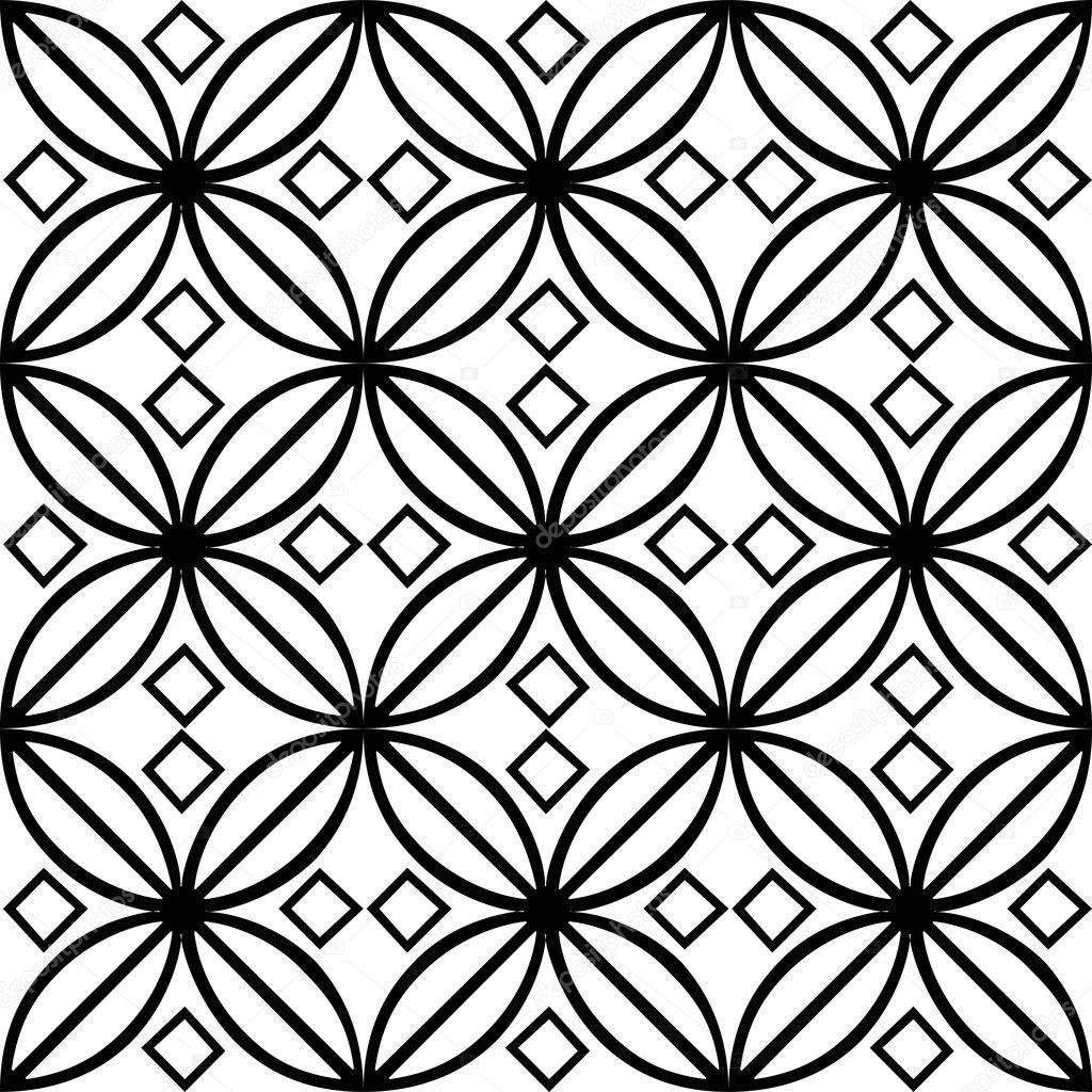 Ilustração de azulejo preto e branco — Imagem de Stock #16190135 #666666 1024x1024 Azulejos Para Banheiro Branco E Preto