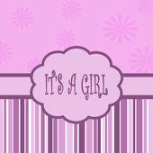 Es una tarjeta de chica — Foto de Stock