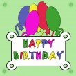 Stock Photo: Birthday card with colorful balloons