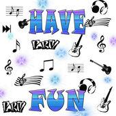 Illustration of Have fun — Stock Photo