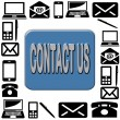 Contact us icon — Stock fotografie