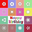 Colorful birthday card — Stock Photo