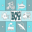 Baby boy card — Foto de Stock