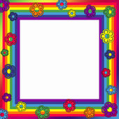 Rainbow frame — Stock Photo