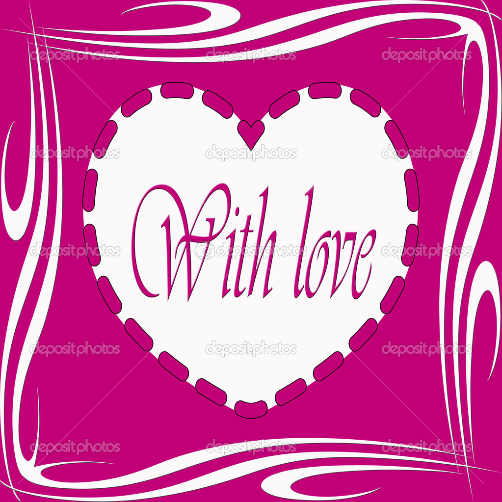 With love illustration with heart shape — Stock Photo #19182095