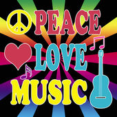 Peace, love, music — Stock Photo