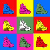 Pop art sneakers — Stock Photo