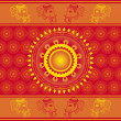 Indian ornament — Stock Photo