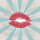 Гранжевые губы — Стоковое фото