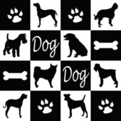 Dog silhouettes — Stock Photo