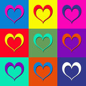 Pop art hearts — Stock Photo